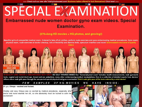 Specialexamination.com Join Now