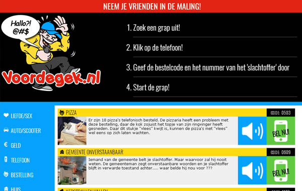 Voordegek.nl Join With SMS