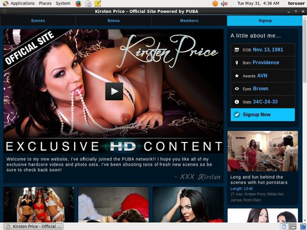 Kirsten Price Pay For