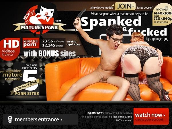 Mature Spank Member Discount