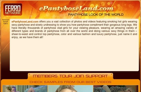 E Pantyhose Land Network
