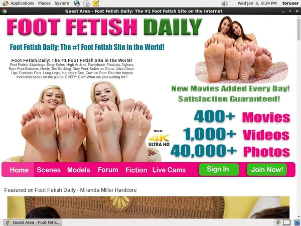 Free Footfetishdaily Pass