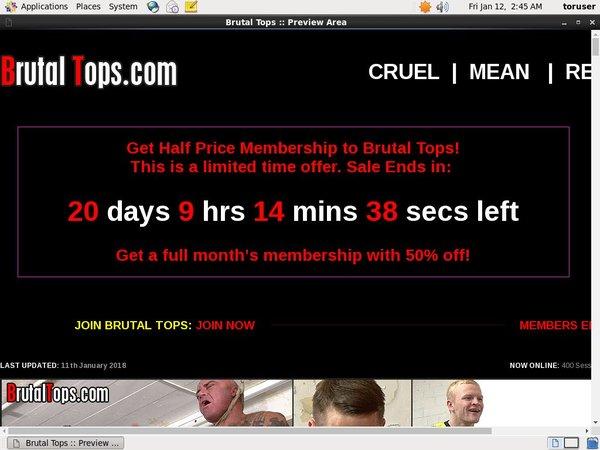 Brutaltops.com Create Account