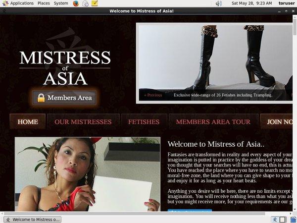 Mistressofasia.com Free Passwords